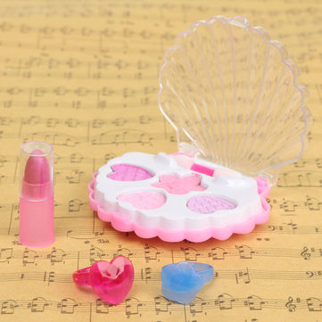 DIY Funny Makeup Toy Cosmetics Eyeshadow Box Lipstick Rings