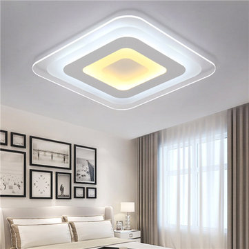 52W 64W 3 Colors Dimmable Modern Ultrathin LED Ceiling Light Decorative Lampshade for Living Room