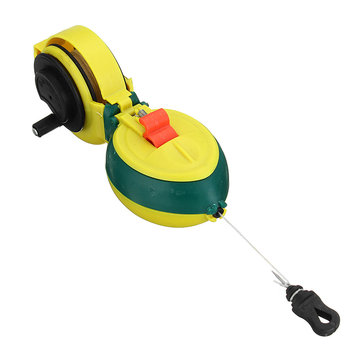 Chalk Line Woodworking Carpenter Marker Tools Manual Ink 15M Hand Reel Wire Box
