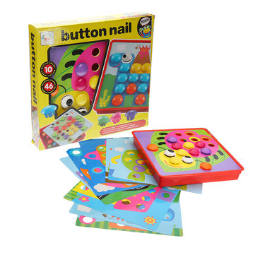 Button Nail 3D Puzzles Creative Children Assembling Big Mushrooms Enlightenment Educational Toys
