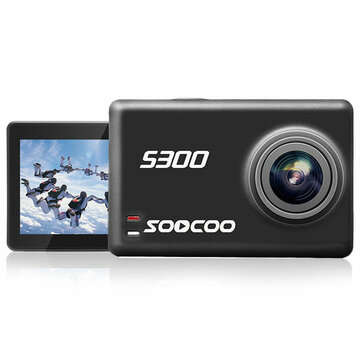 SOOCOO S300 Hi3559V100 IMX377 Sensor 170 Degree Wide Angle 2.35 Inch Touch LCD with WiFi Gryo 12MP CMOS Sport Action Camera Support External Microphone