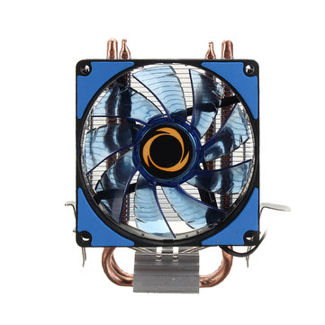 12V Dual LED CPU Cooling Fan Heatsink Radiator 9cm For Intel LGA1155X/1151 AMD Socket