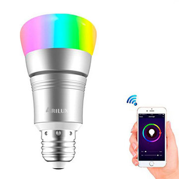 ARILUX® E27 7W RGBW WIFI Timing APP Control LED Smart Light Bulb Work With Amazon Alexa AC85-265V