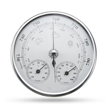 Wall Hanging Pronóstico del tiempo Termómetro Medidor de presión de aire higrómetro-30 ~ + 50 ℃ 0 ~ 100% Rh 960 ~ 1060hPa