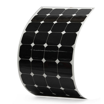 Elfeland® SP-23 130W 18V Sun Power Semi Flexible Solar Panel With 1.5M Cable