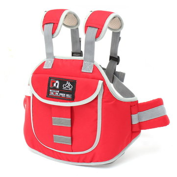 Buy Motorcycle Safety Belt Kids Children Electric Scooters Bike Reflective Stripe Safe Strap Pocket Bag for $7.76 in Banggood store