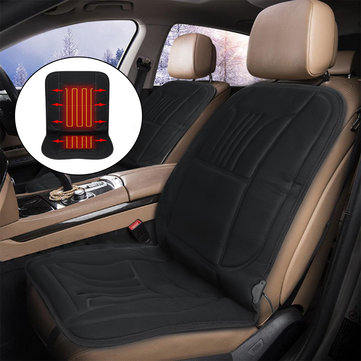 12V 45W Car Front Seat Heated Cushion Seat Warmer Winter Household Cover Electric Heating Mat