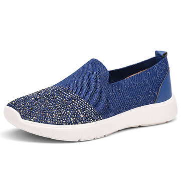 Women Casual Outdoor Knitting Breathable Sport Shoes