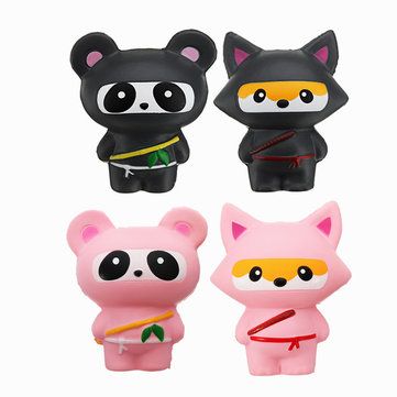14cm Cute Jumbo Squishy Ninja Cat Fox Panda Scented Super Slow Rising Kids Toy Gift