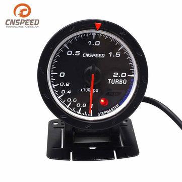 2.5 inch 60mm LED Turbo Boost Gauge Vacuum Press Pressure Bar Dials Meter for Car Truck