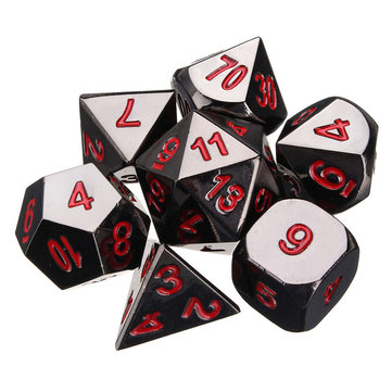 7Pcs Polyhedral Metal Dice Set Role Playing Game Dice Set Multisided Dice
