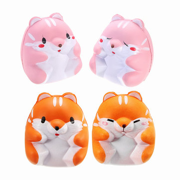 Squishy Hamster 8cm Slow Rising Cute Animals Collection Gift Decor Toy
