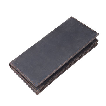 Men Genuine Leather Wallet Card Holder Pocket Simple Coin Purse