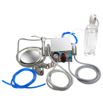 Dental Turbine Unit Compressor 4 Hole + Tube + Water Bottle + Foot Switch Tools Kit