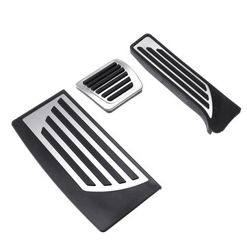 3Pcs Car Interior Gas Brake Pedal Pad Footrest Cover Aluminum Alloy for Alfa Romeo Giulia 2017 2018