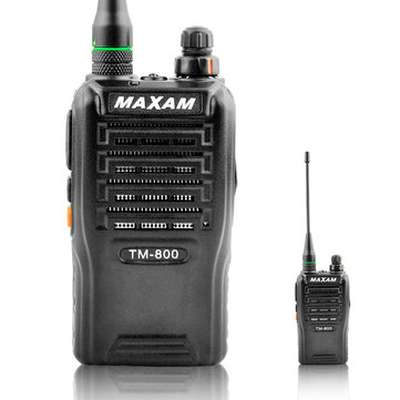 QUANSHENG TM-800 16 Channels 400-480MHz Mini Stainless Steel Speaker Dual Band Handheld Radio Walkie Talkie