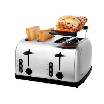 4-Slice Full Automatic Stainless Steel Kitchen Toaster Bread Smart Toaster