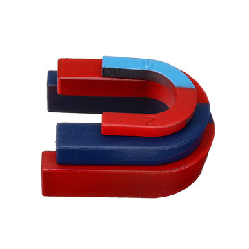 3Pcs/Set U Shaped Horseshoe Magnet Red Blue Painted Pole Physics Experiment Teaching Toys
