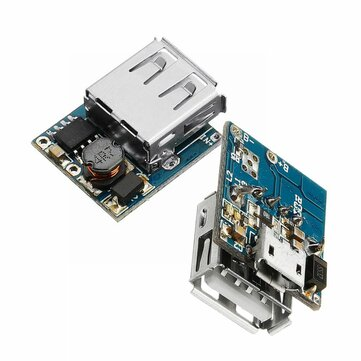 2Pcs 5V Lithium Battery Charger Step Up Protection Board Boost Power Module Micro USB Li-Po Li-ion 18650 Power Bank Charger Board DIY