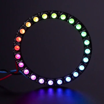 NeoPixel Ring 24x 5050 RGBW LED 4500K With Integrated Driver Natural White Module For Arduino