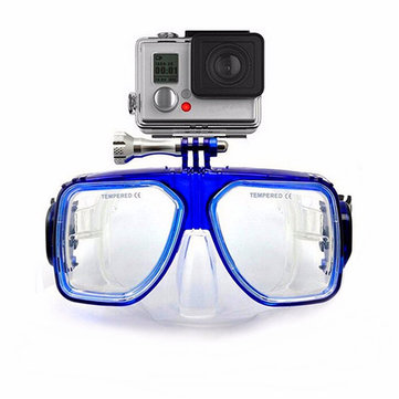 Under Water Diving Mask Scuba Snorkel Swimming Goggles for GoPro 3 3+ 4 Xiaomi Yi Camera