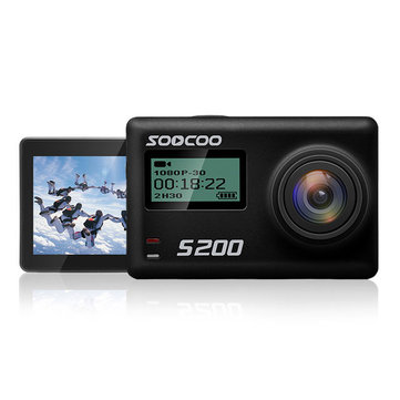 SOOCOO S200 2.45 Inch Touch LCD HD 170 Degree Wide Angle 4K NTK96660 IMX078 with WiFi Gryo Voice Control GPS Sport Action Camera