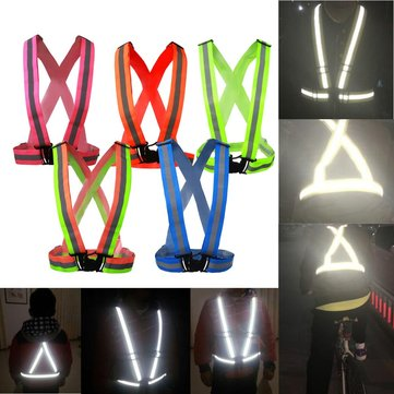 COLOR Safe Reflective Vest Belt for Women Girls Night Running Jogging Biking