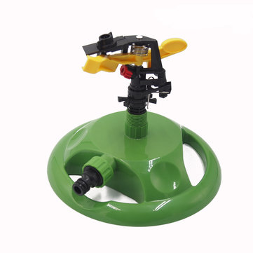 Garden Farm Lawn Irrigation Sprinkler Automatic Three Arms 360 Degree Rotating Spray Watering Tools