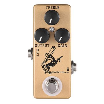 MOSKY Golden Horse Guitar Effects Pedal Overdrive Effects Pedal Full Metal Shell