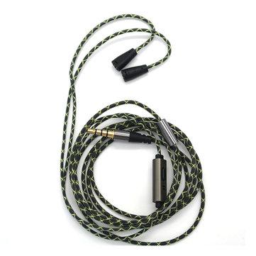 Cabo de áudio de substituição atualizado Tingo com microfone para IE80 IE8 IE8I SE353 SE215 W4R TF10 IM50 IM70