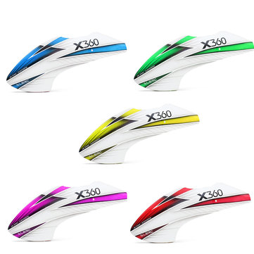 ALZRC Devil X360 RC Helicopter Fiberglass Painting Canopy Yellow/ Green/ Red/ Blue/ Purple