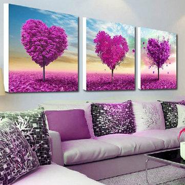 32x32cm 5D DIY Purple Love Tree Diamond Painting Resin Full Rhinestone Scenery Cross Stitch Kit