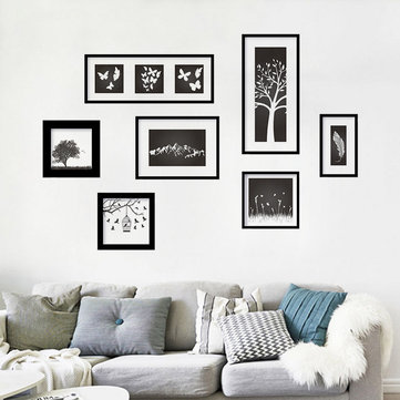 Art Photo Frame Black Bedroom Living Room Decoration Removable PVC Wall Stickers