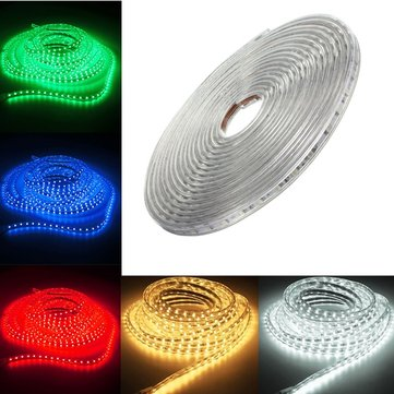 220V 10M 5050 LED SMD Outdoor Waterproof Flexible Tape Rope Strip Light Xmas