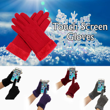 Vrouwen Winter Touch Screen Handschoenen Full Finger Mittens Voor iPhone 6/6S Plus iPhone 6 / 6S Tablet Smartph