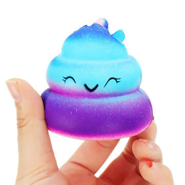 Crazy Squishy Galaxy Poo Slow Rising Scented Cartoon Bun Stress Kawaii Toy Phone Pendant