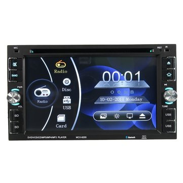 YT-6205 6.2 inch 2 DIN Car Stereo DVD MP3 Player FM Radio Touch Screen HD Bluetooth USB TF
