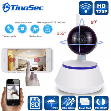 HD 720P Smart Pan&Tilt IP Camera WiFi Wireless Security Camera Network Rotatable Defend Micro SD for IOS Android