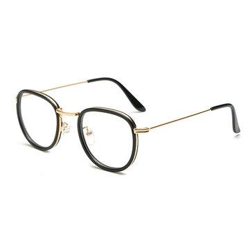 Män Kvinnor Metal Runda Retro Glasögon Ultra Light Frame Läsglasögon