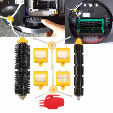 9pcs Vaccum Cleaner Filters Brush Pack Kit For iRobot Roomba 700 Series