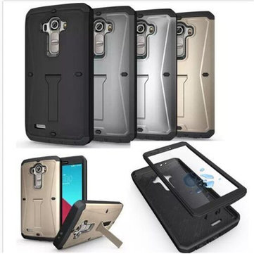 3 in 1 Hybrid Drop/shock/Dust Proof Hard Kickstand TPU+PC Case Cover For LG G4