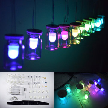 DIY Aurora RGB Full Color LED Glass Wind Chimes Hanging Lamp Kit