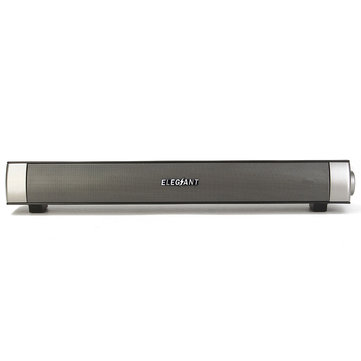 Elegiant USB Powered Wireless Bluetooth Sound Bar Speaker for Desktop PC Computer TF Aux Mode