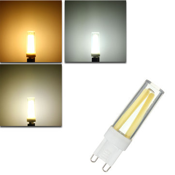 Dimmable G9 3W COB LED Crystal White Warm White Natural White Light Lamp Bulb AC220V