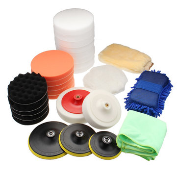 29Pcs Sponge Buffing Polishing Pad Buffer Kit For Electric Auto Polishers