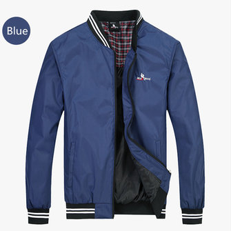 Men Water Repellent Windproof Baseball Coat Solid Color Bomber Jacket Plus Size Outer 5 Colors