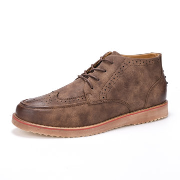 British Style Classic Brogue Lace Up Oxfords
