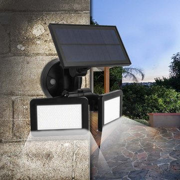 Dual Head 48 LED 450Lm Solar Wall Light Outdoor LED PIR Motion Sensor Security Landscape Lamp