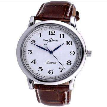 Retro Style Reverse Time Movement Unique Display Coupon Watches Quartz Watch