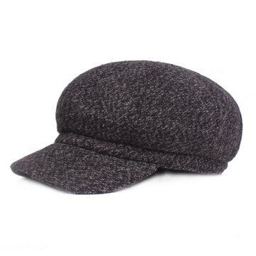 Men Winter Outdoor Warm Woolen Beret Hat